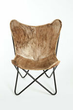 Classic Cover Cowhide Leather BKF Butterfly Chair - Only Cover. BRINDLE