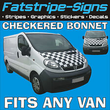 RENAULT TRAFIC Checker COFANO grafiche Adesivi Decalcomanie MX RACE Van MOTOCROSS