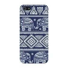 Pretty Fashion Blue Elephant Pattern Hard Skin Case Cover for iPhone 5 5G 5S