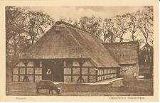 Husum, Ostenfelder Bauernhaus, Bauer mit Rind, Kuh, alte Ansichtskarte um 1930