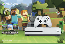Microsoft - Xbox One S 500GB Minecraft Favorites Console Bundle - Robot White