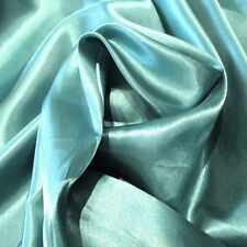 """20 Yard Lot OCEAN BLUE #30 Charmeuse Satin 100% Polyester Fabric Wholesale 60"""" W"""