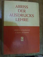 Fachbuch Abriss der Ausdruckslehre DDR Buch