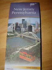 NEW JERSEY PENNSYLVANIA STATE SERIES HIGHWAY MAP AAA 4/16-7/17 NEW