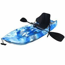 1.8M Kids Kayak Single Sit-on Touring With Backrest Seat Paddle Leash Blue Camo