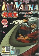 DVD Inuyasha ( Chapter 1-167 End ) + 4 Movies - Free Shipping