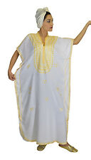 Kaftan Moroccan Women Arabian Beach Summer Caftan Long Dress Muslim Abaya Cotton