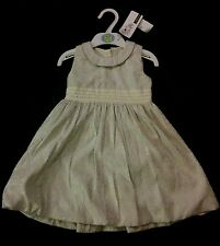 M&S Autograph Ivory & Silver Vintage Style Dress Bridesmaid/Party18-24 Mths BNWT