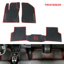 2015-2016 JEEP RENEGADE FRONT & REAR CARPET FLOOR MATS Protector 3PCS/SET RED