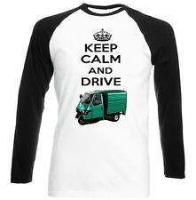 APE PIAGGIO 50 GREEN KEEP CALM - NEW COTTON TSHIRT - ALL SIZES IN STOCK