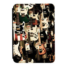 Guitarra De Pared Electric Rock Music Mini Ipad 1/2/3 De Cuero Pu Flip Funda Protectora