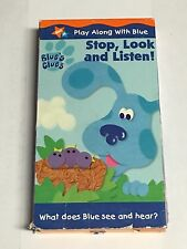 Blues Clues - Stop, Look and Listen (VHS, 2000)