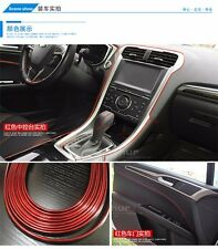 5M AUTO ACCESSORY CAR Universal Interior Decoration Red Line Strip CHROME Shiny
