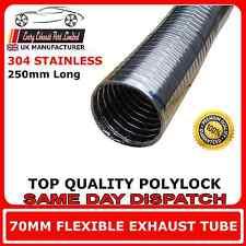 """70mm 2.75"""" Universal Flexible Tubo Reparación De Escape Polylock"""
