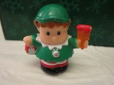 Fisher Price Little People Christmas Elf red paint train twas night Main St. Toy