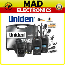 Uniden UH850S-2TP TWIN Tradies Pack 5 Watt Rugged Handheld CB UHF Walkie Talkie