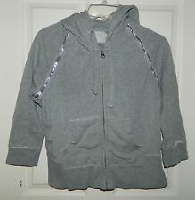 GAP Gray Silver Trim HOODIE SWEATSHIRT* M Medium
