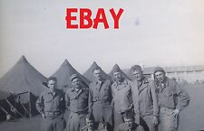 """WWII RARE PHOTO NEGATIVE US ARMY 34TH INF """"RED BULL"""" IN ITALY CAMP/BASE SCENE"""