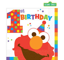 Sesame Street 1st Birthday Party Supplies LUNCH NAPKINS Pack Of 16