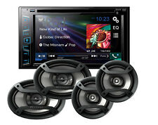 "Pioneer AVH-280BT 6.2"" CD DVD Receiver w/ 6.5"" & 6x9"" Car Speakers Package B"
