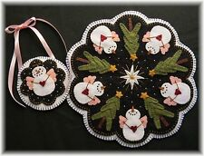 Penny Rug/Candle Mat ~*PATTERN*~O Holy Night Christmas Snow Angels