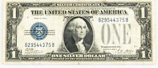 1928 A $1 One Dollar George Washington Silver Certificate Funny Back Note
