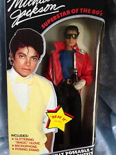 MICHAEL JACKSON DOLL MINT IN BOX BEAT IT DOLL NEVER REMOVED FROM BOX