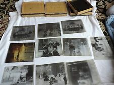 Antique Photo Glass Slides Negatives Christmas Tree Interior House People (e694