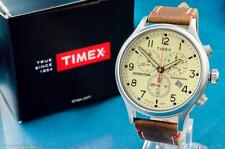 HANDSOME NEW MENS TIMEX 43MM VINTAGE MILITARY AVIATOR TYPE CHRONOGRAPH WATCH