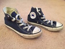 Converse All Star High top Trainers Pumps Navy Blue Canvas Infant Size 12.5