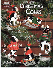 """CHRISTMAS COWS""~Plastic Canvas PATTERN BOOK ONLY~SEE PICTURES"