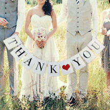 THANK YOU Photo Prop Wedding Banner Bunting Sign Party Letter Home Decoration