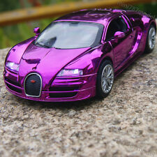 Bugatti Veyron 1:32 Alloy Diecast Model Car Toys Sound&Light Gifts Purple Plated