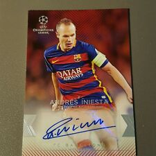 Andres Iniesta Autograph 18/25 2015-16 Topps UEFA Champions League Showcase auto