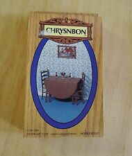1:12 Scale Chrysnbon Furniture Kit, W/Drop-Leaf Table and 2 Ladder-back Chairs