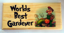 Worlds Best Jardinero-Placa / Cartel / Regalo-Whistling Hombre Grandad papá arrojar 379