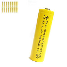 16 pcs AA 2A 3000mAh 1.2V Ni-MH rechargeable battery Solar Light MP3 Toy Yellow