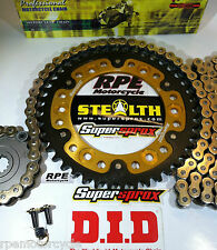 HONDA CBR600RR '07/15 DID & SUPERSPROX GOLD QUICK ACCEL CHAIN AND SPROCKETS KIT