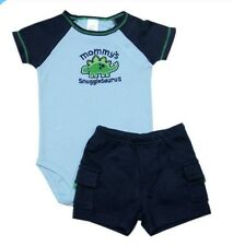 "Carter's 2-piece Bodysuit & Pull-On Short Set ""Mommy's Snugglesaurus"", 18 months"