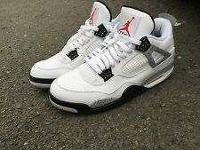 Nike Air Jordan Iv 4 Cemento Blanco UK11 US12 Negro Gris og 2016