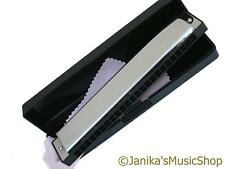 Professional 24 note E key harmonica tremolo folk mouth organ harp in hard case