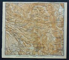 1899 Antica Topografica=DINTORNI ROMA=PALESTRINA GENAZZANO...SCALA 1:100000...