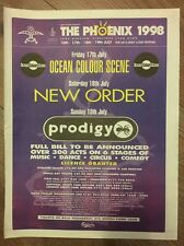 "THE PHOENIX 1998 NEW ORDER PRODI ORIGINAL ADVERT 16 X 12"" POSTER SIZE 7 MAR 1998"