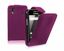 PURPLE Leather flip case cover for Samsung Galaxy Ace GT-S5830G / S5830M S5830L