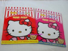 Sanrio Hello Kitty Paper Doll 2 Booklet set 8 SHeets EA