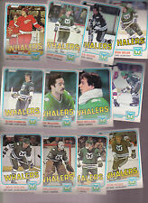1981 - 82 OPC Team LOT of 12 Hartford WHALERS NM+ o-pee-chee HOWE KEON