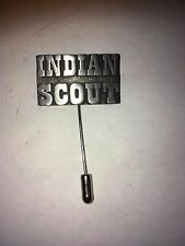 Indian Scout H15 Fine English Pewter on a tie stick pin Hat Scarf