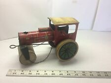 Vintage Tin Litho D.G.M. 187 Steam Roller Wind Up Toy US Zone Germany