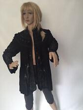 ROBERTO CAVALLI Jacke Jacket Blazer Weste Vintage Echt Leder Bemalt GR. L (C145)