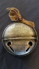 ORNAMENT metal rustic SILVER JINGLE BELL Christmas * MORE ORNAMENTS IN OUR STORE